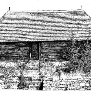 2. Crkva brvnara u Milicinici kod Valjeva, izgled sa juga