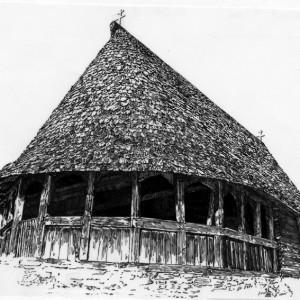 3. Crkva brvnara u Dubu, izgled sa jugozapada